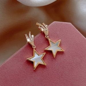 2/$20! Gold Pearlescent Shooting Star Earrings